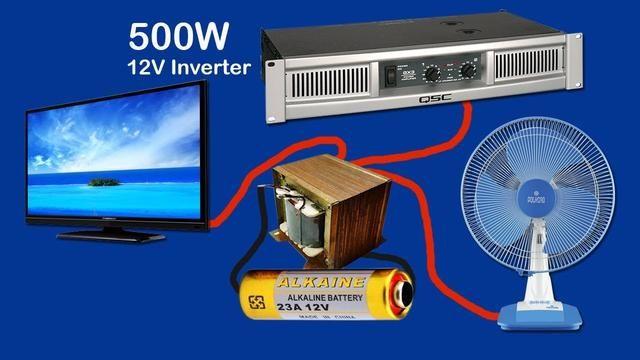 how to make inverter 12v to 220v 240v 500w part2 diy. Black Bedroom Furniture Sets. Home Design Ideas
