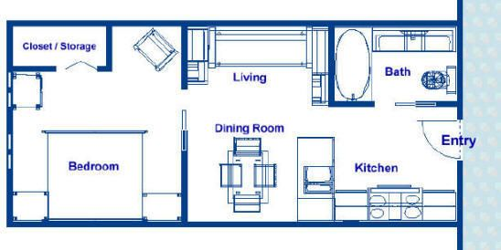 350 Square Foot Ocean Liner Stateroom Floor Plans Vacation Home Roximately 12 5 X 28 With An Island Bed Separate Bath Kitchen Designer Liances
