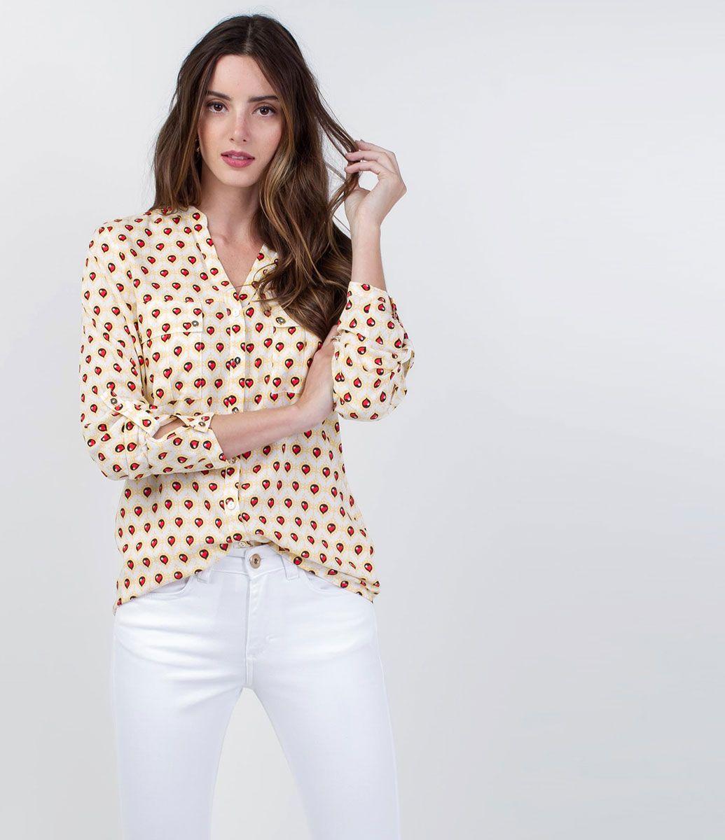 Camisa Feminina Estampada - Lojas Renner | Todo o estilo das camisas ...