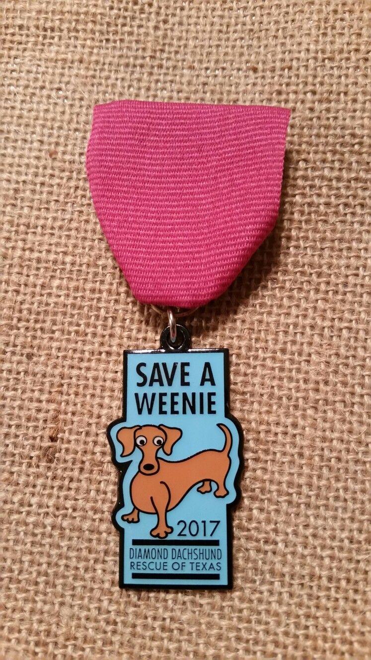 2017 Save A Weenie Fiesta Medal Dog Tag Necklace Dog