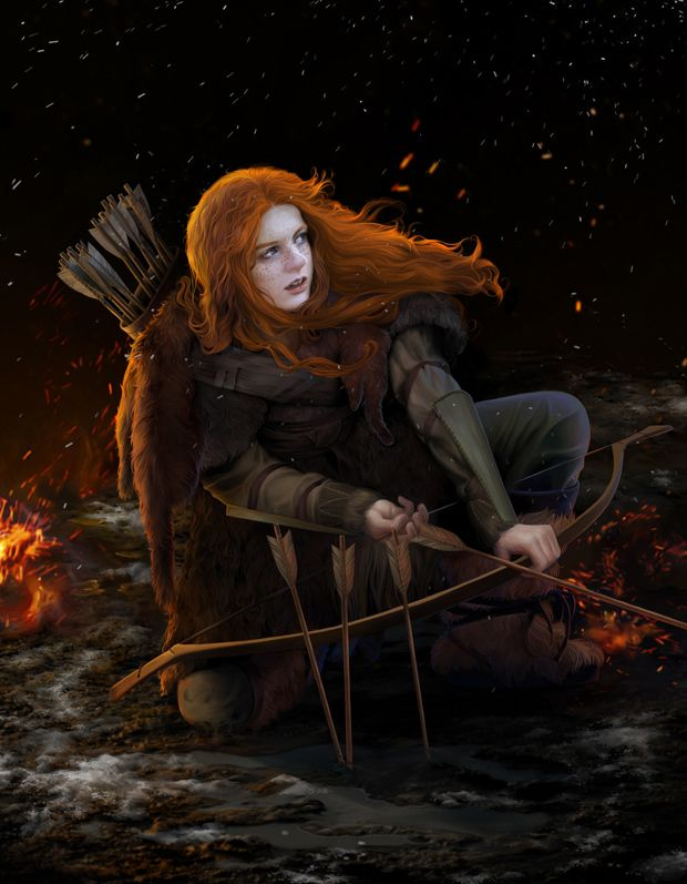 Ygritte: Beautiful Concept Artwork by steamey   Character portraits, Fantasy characters, Art