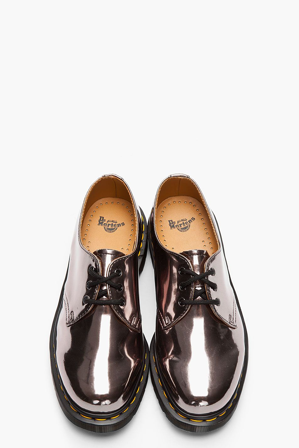 Dr Martens Metallic Pewter Patent 1461 3 Eye Gibson Shoes Shoes Martens Dr Martens Boots