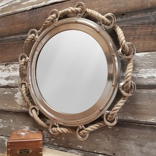 23 Inch Porthole Mirror With Rope Home Garden Décor Mirrors Ebay