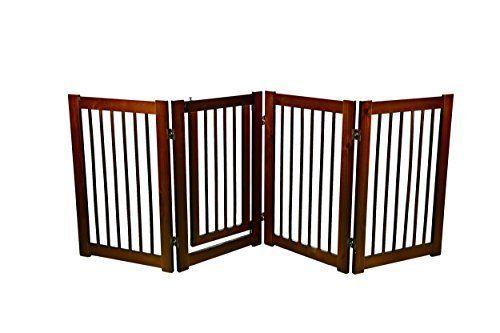 Wood Pet Gate Dog Safety Baby Fence Wide Door Cat Child Indoor
