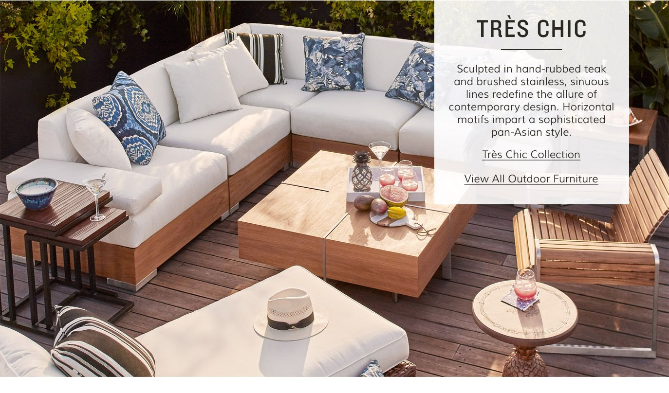 Sophisticated Pan Asian Style Outdoor Furniture From Tommy Bahama