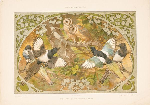Dekorative vorbilder [Tegning] Produsent: Hoffmannsche Buchdruckerei Stuttgart