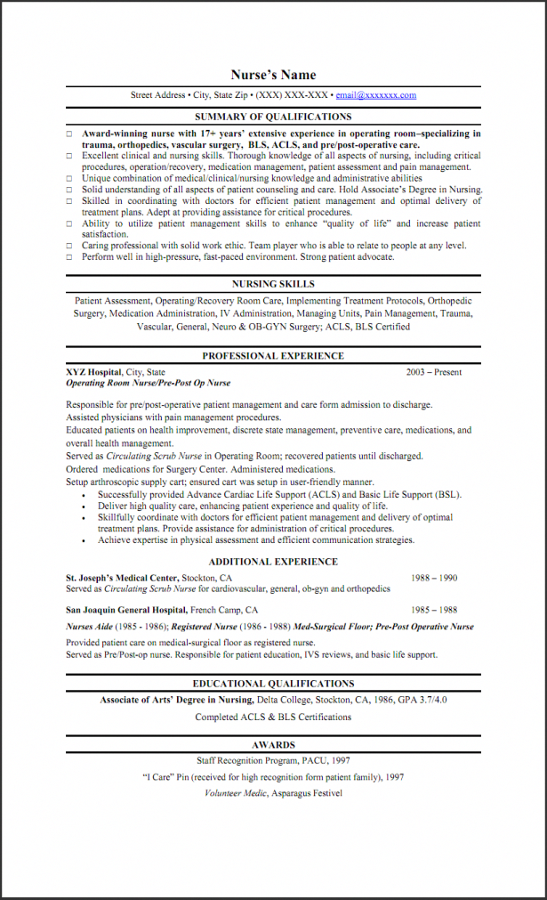resumes write a nursing skills on resume template with professional