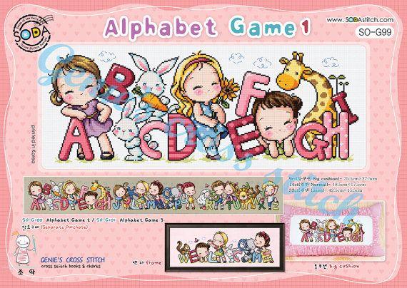 Alfabeto gioco 1 a H con l