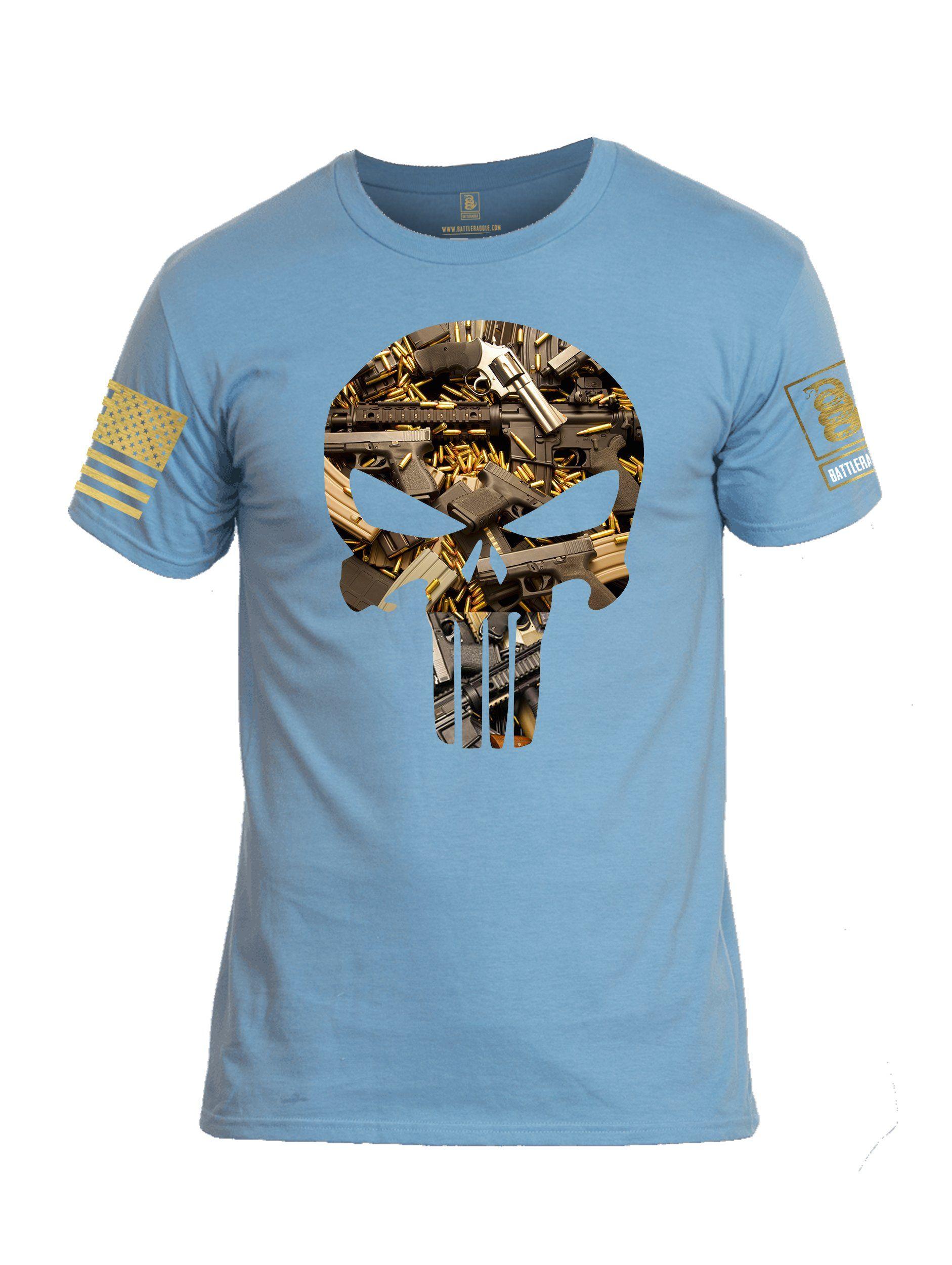 Battleraddle Spartan Punisher Brass Skull Bullets Mens Blended Hoodie Pockets