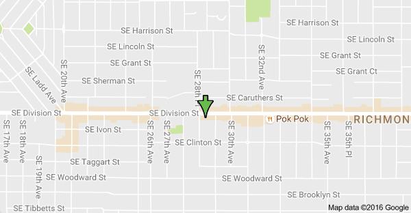 Delightful Map Of 2880 SE Division St, Portland, OR 97202   Food Cart Pod