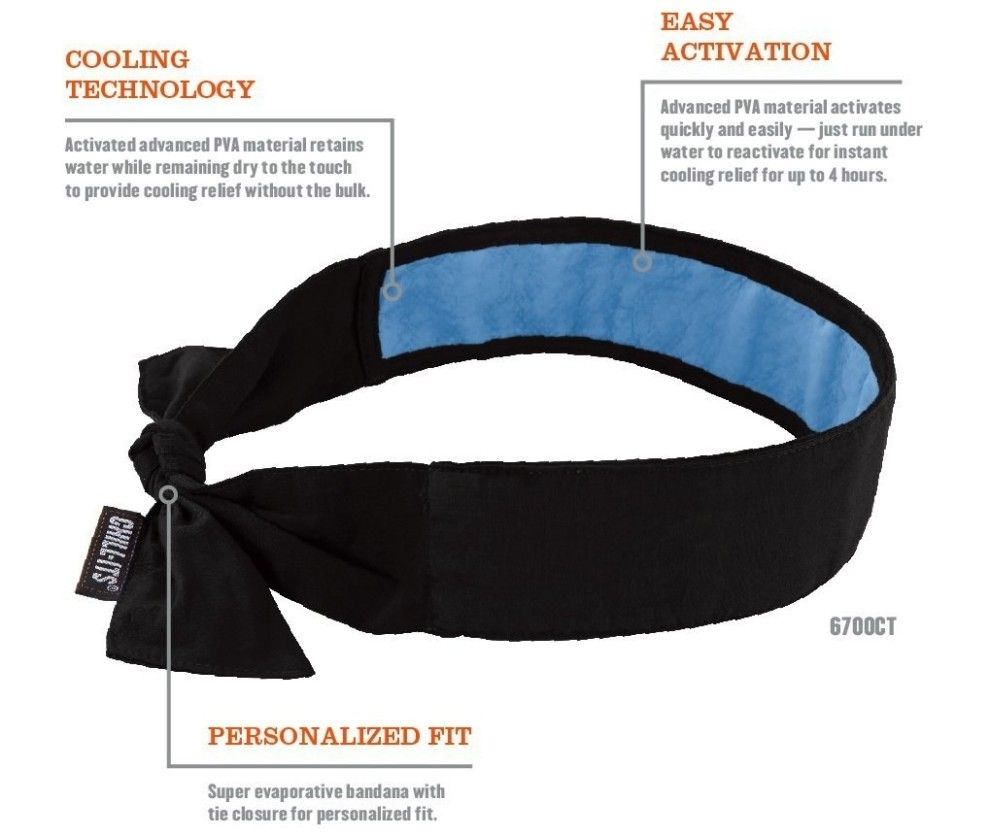 A Cooling Bandana You Can Tie Around Your Neck Or Forehead Run