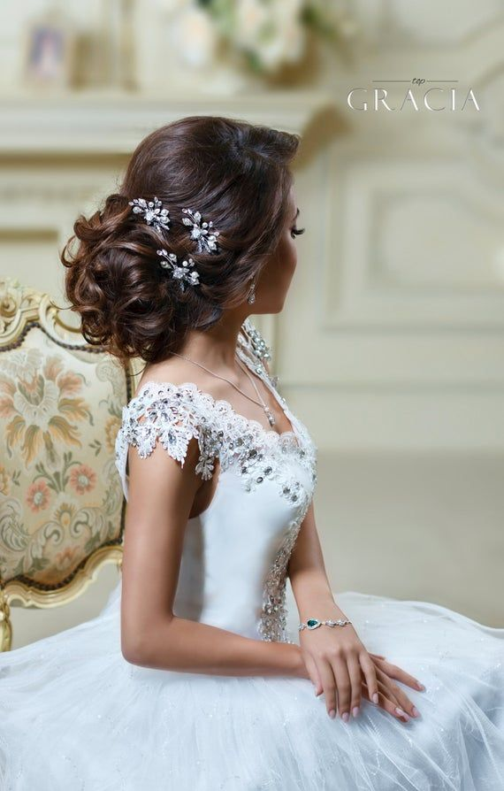 Bridal hair pins Pearl hair pins Wedding bobby pin