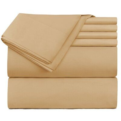 Ivy Bronx Reese Hotel Luxury Sheet Set Size: Twin, Color: Camel