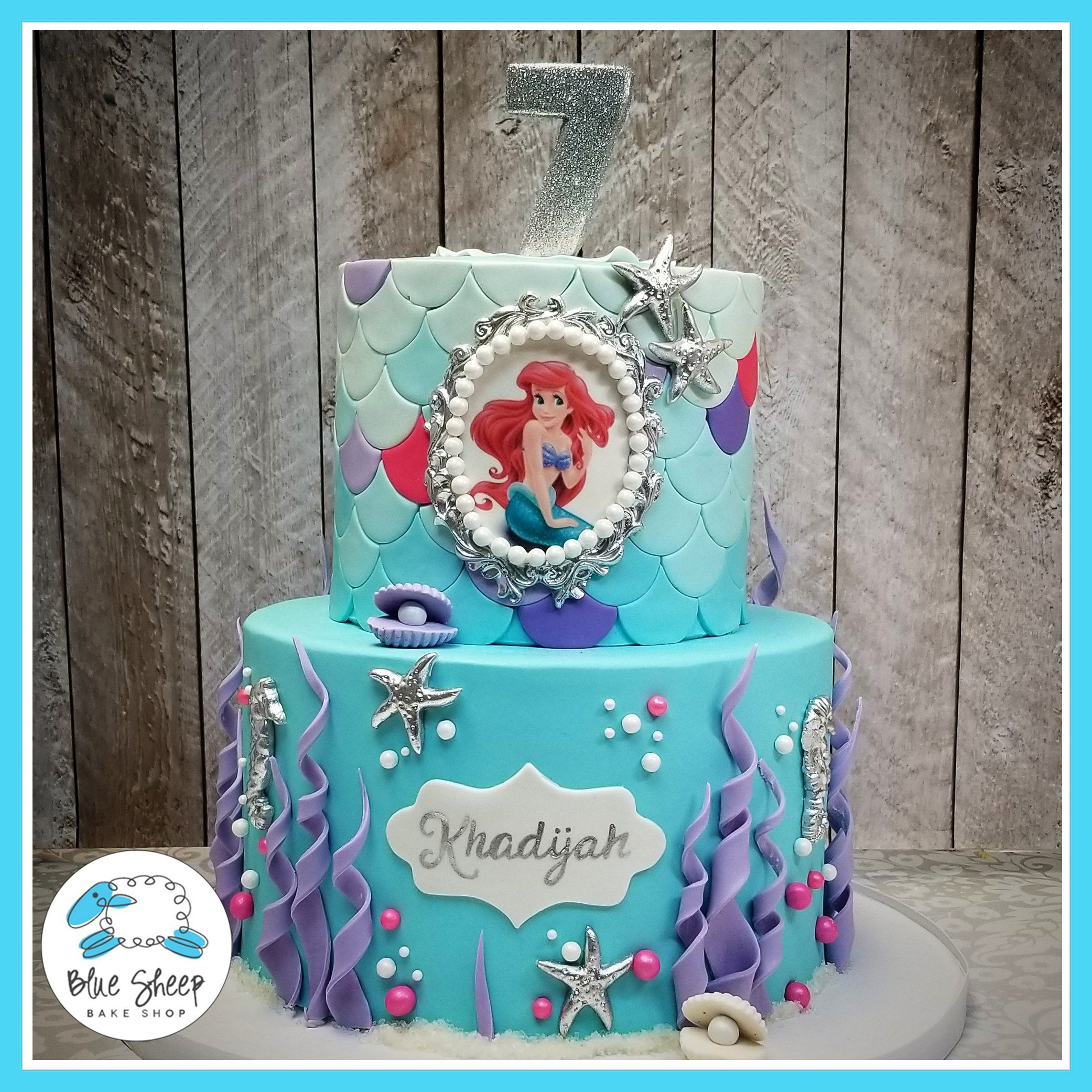 Cool Mermaid Under The Sea Custom Birthday Cake Nj With Images Funny Birthday Cards Online Elaedamsfinfo