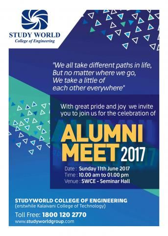 Dear Alumnus We Would Be Immensely Delighted To Invite To The Alumni Meet On 11th June 2017 Let S All Catch Up On The Alumni Invitations College