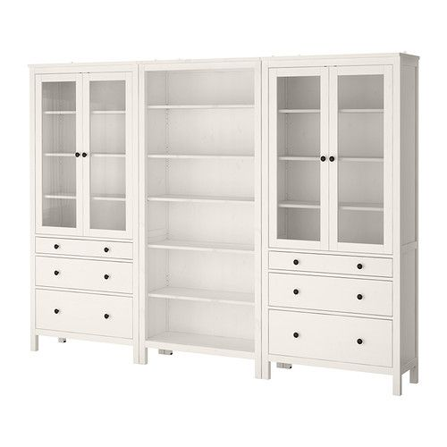 Hemnes storage combination w doors drawers ikea cosina pinterest - Mueble tv hemnes ...