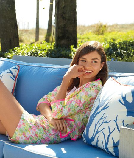 Lilly Pulitzer Spring '13- Sloane Short and Nelle Jacket in Multi Floral Sunbonnet Lace.