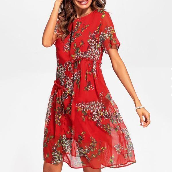 d6df7925a57e Elegant Casual Flower Printed Dresses in 2019