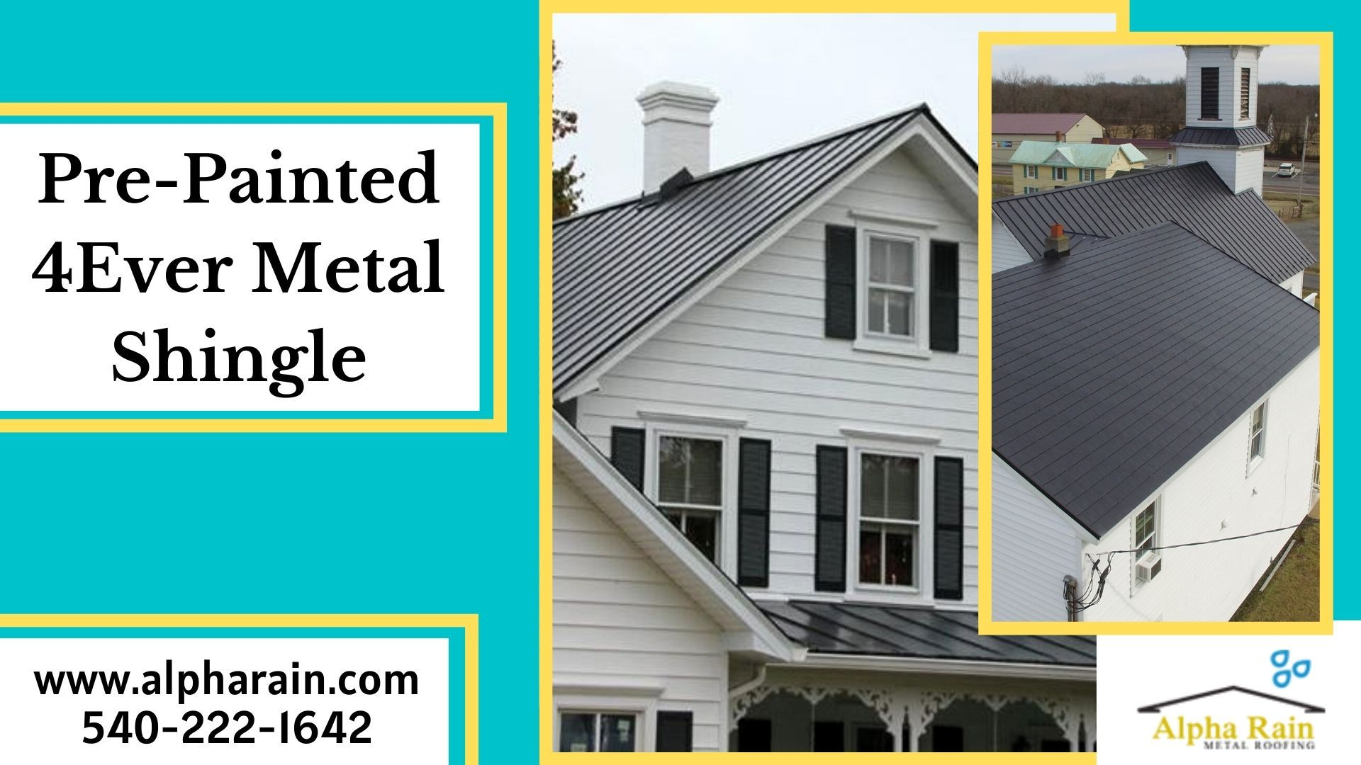 Galvalume substrate metal roof shingles by alpha rain