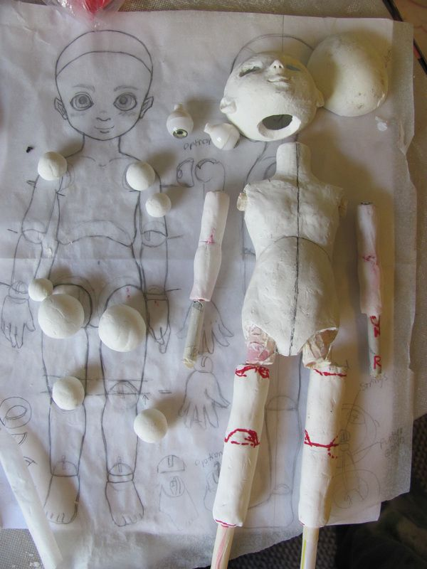 APW: #dollchat - build a bjd doll outof clay from scratch ...