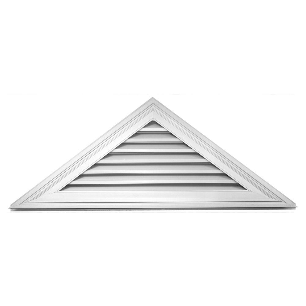 9 12 Triangle Gable Vent 001 White Gable Vents Builders Edge Vinyl Shingle Siding