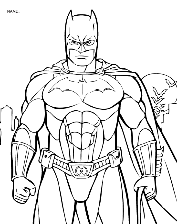 Free Printable Coloring Pictures Of Batman
