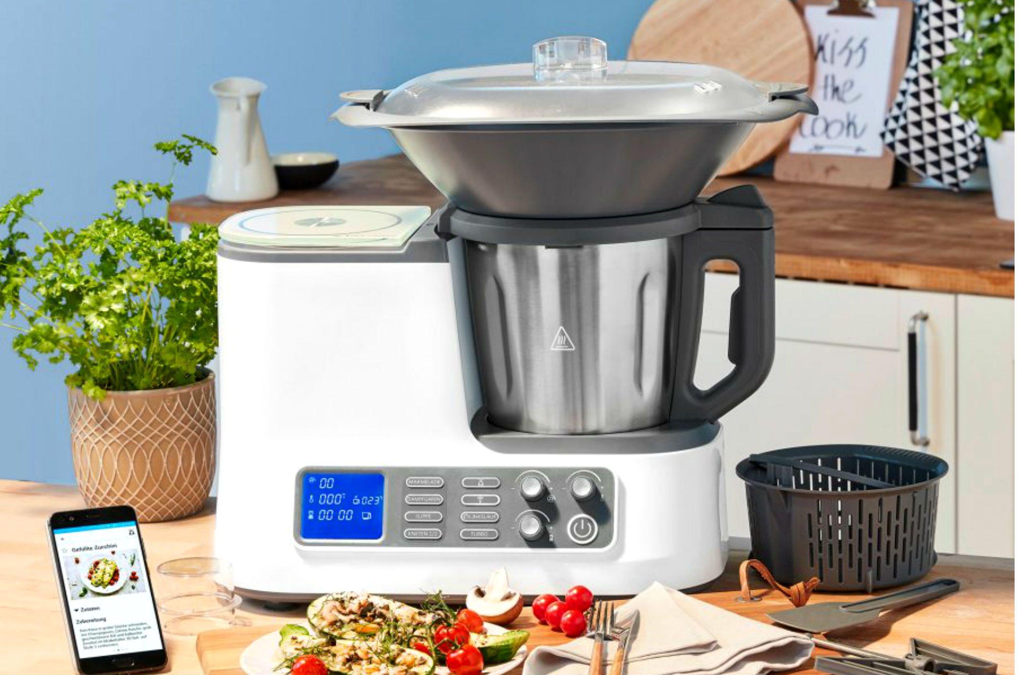 Lohnt Sich Der Neue Thermomix Klon Von Aldi Kuchenmaschine Mit Kochfunktion Thermomix Aldi