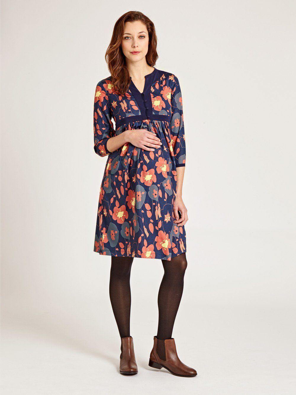 8a29897762af8 Navy Floral Maternity Dress | JoJo Maman Bebe #maternity #maternitystyle
