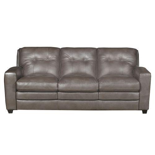 Modern Contemporary Bronze-Brown Leather Sofa Sleeper - Roland | New ...