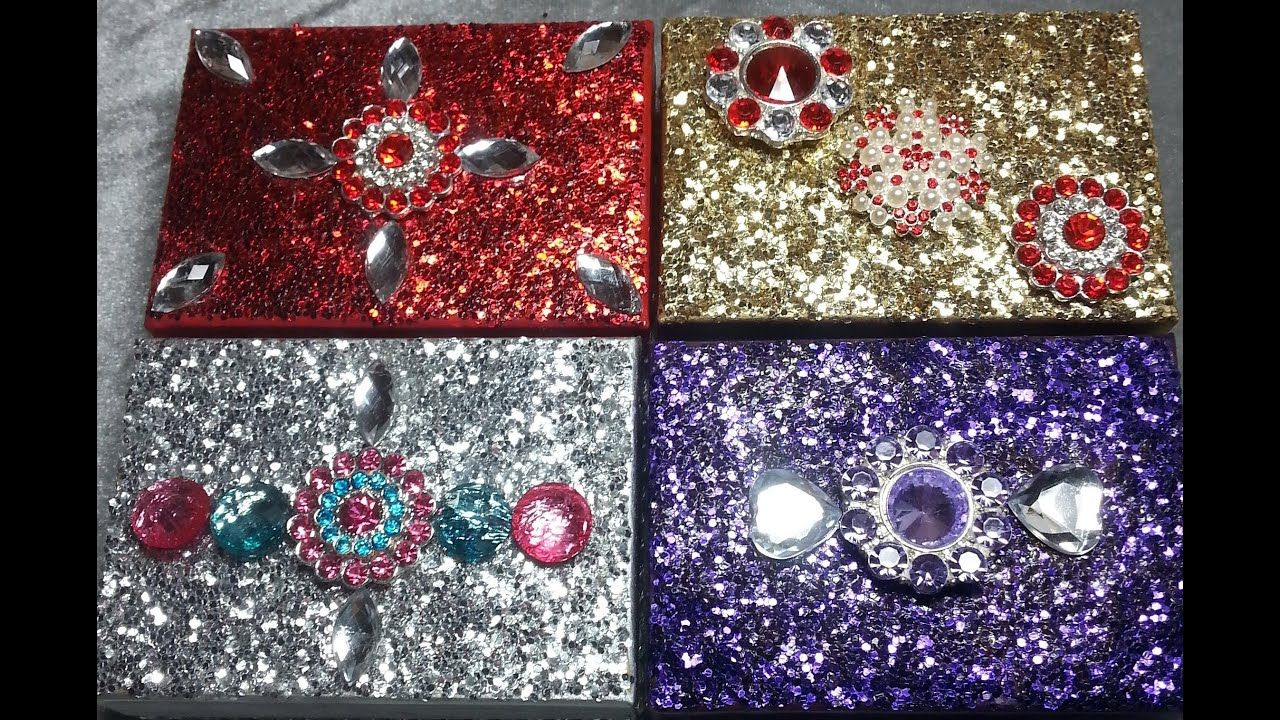 Diy Gorgeous Inexpensive No Shed Glitter Trinket Boxes