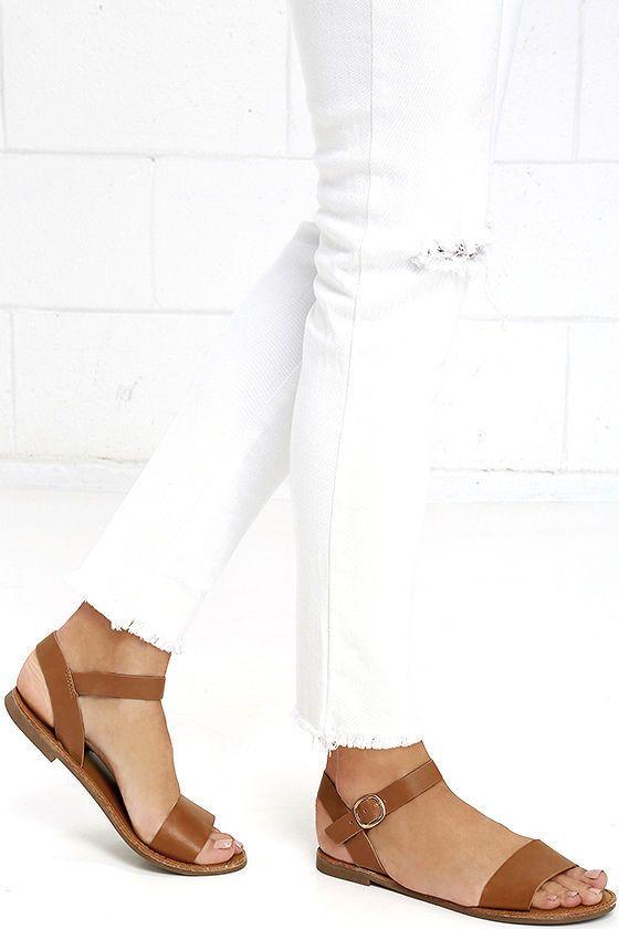 Hearts and Hashtags Tan Flat Sandals | Sandalias, Zapatos y