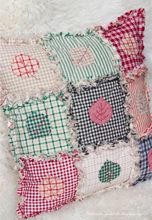 Cojines Con Aplicaciones.Cojin Patchwork Con Aplicaciones Cojines Shabby Sewing Pillows