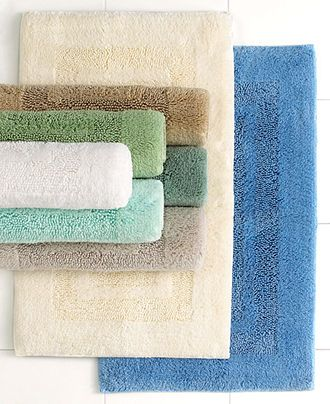 Martha Stewart Collection Plush Squares Cotton 27 X 45 Bath Rug Bath Rugs Bath Mats Bed Bath Macy S Bath Rugs Square Bath Rugs Bath Runner Rugs