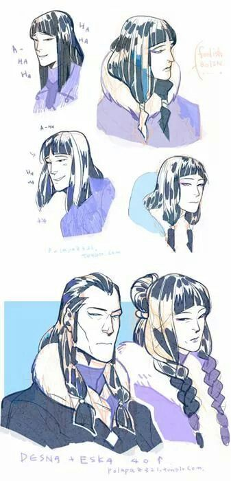 Examples Of Nipait Hairstyles Similar To Those Of The Taqqiq Tribe Avatar Avatar Characters Avatar The Last Airbender