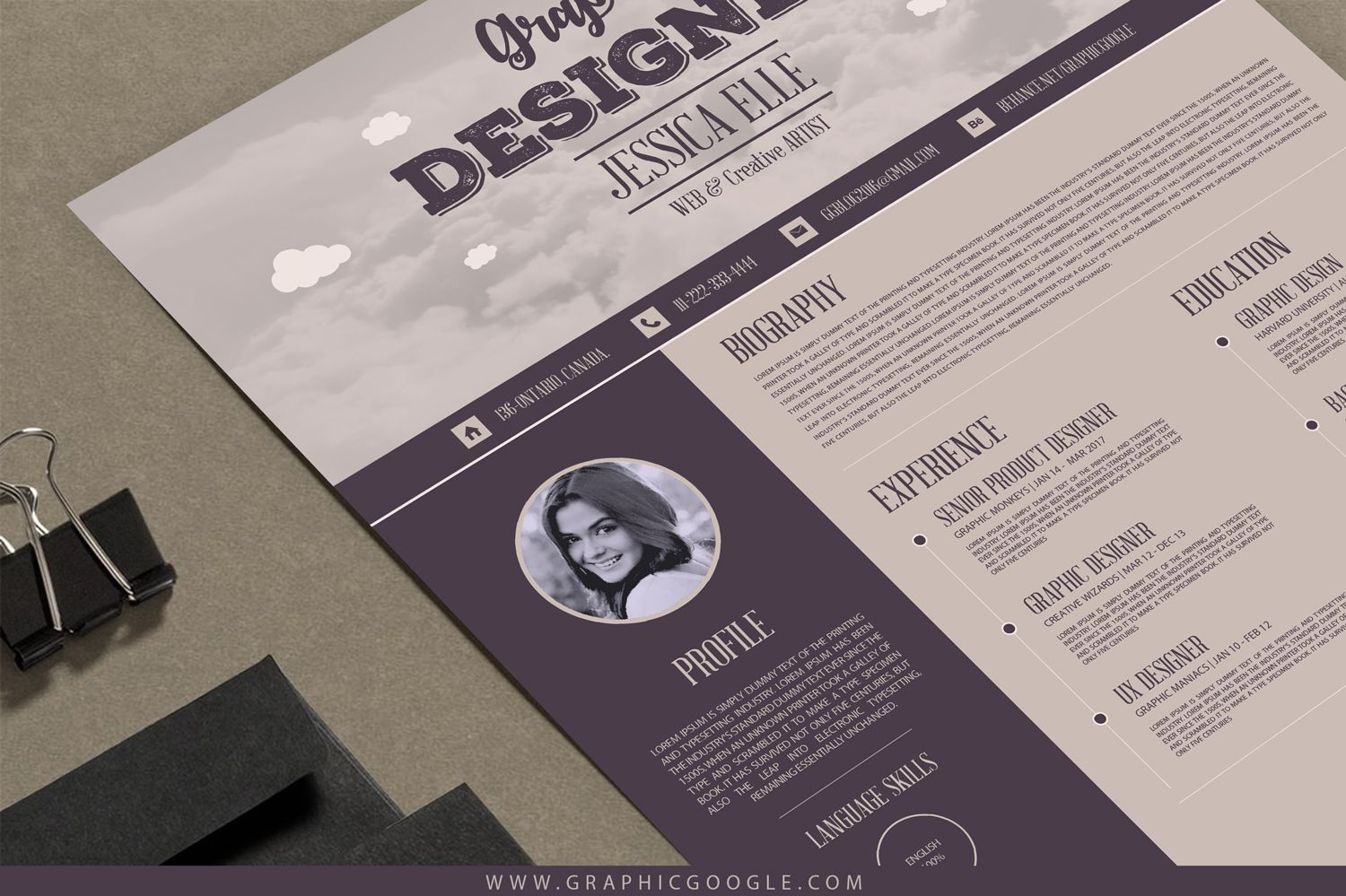 Free Vintage Resume Templates Resume Template Free Creative Resume Template Free Resume Template Examples