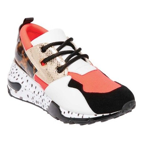 fe9f4673c48 Women's Steve Madden Cliff Sneaker - Coral Multi Synthetic Sneakers ...