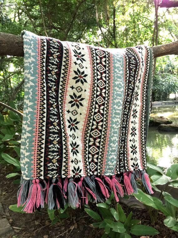 Boho Throw Blankets Classy Bohemian Throw Blanket 60 X 60 InchesTribal Aztec Blanket Boho