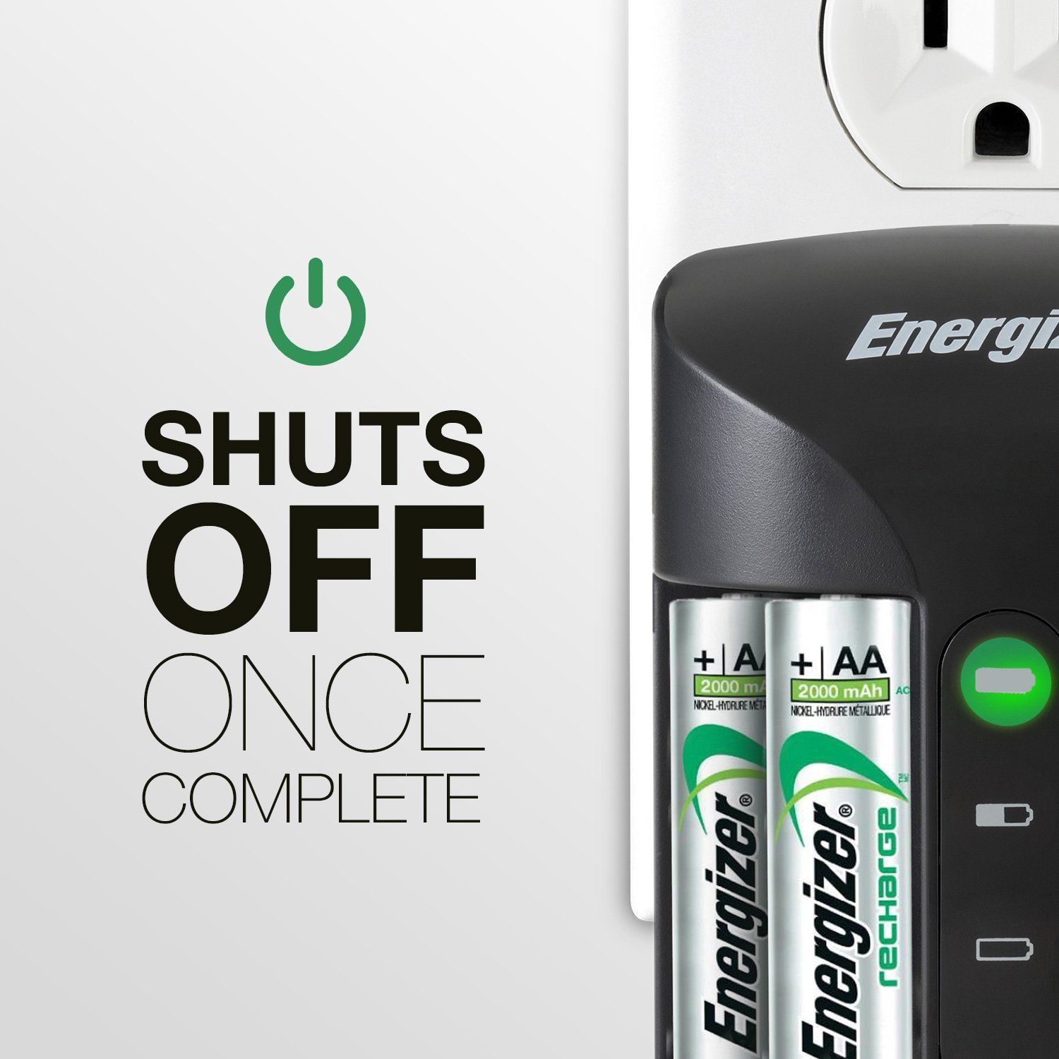 Energizer Rechargeable Aa And Aaa Battery Charger Recharge Pro With 4 Aa Nimh Rechargeable Batteries Aa Aaa Battery Charger Rechargeable Batteries Energizer