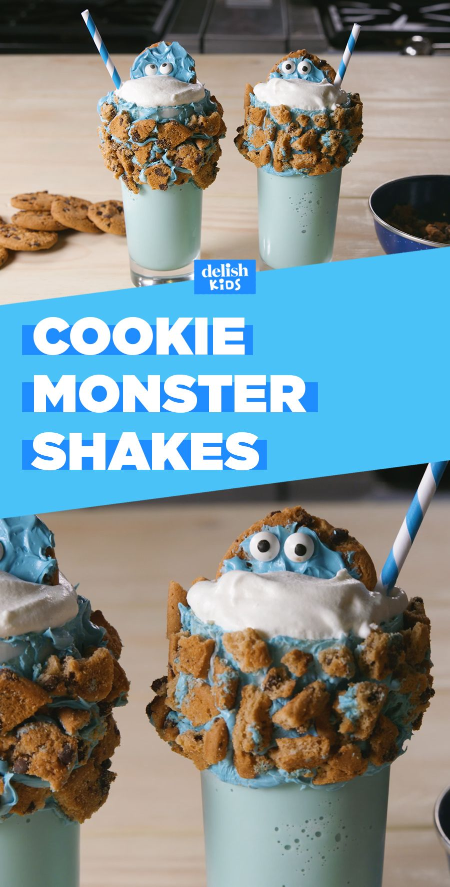 Cookie monster shakes recipe monster milkshakes