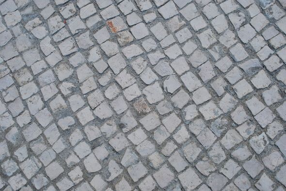 Portuguese Tradition 'Calçada' (calcada, construction, construction material, europe, grey, pattern, pavement, portugal, portuguese, stone, stones, template, texture, typical, white)