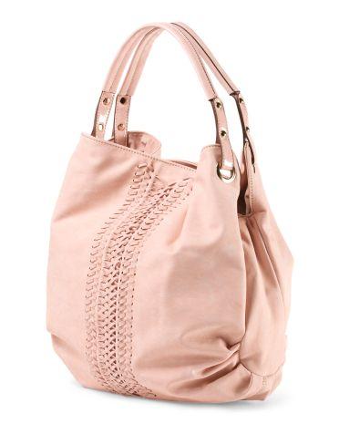 2e61b4f946d4 image of Sachi Large Woven Hobo Handbag