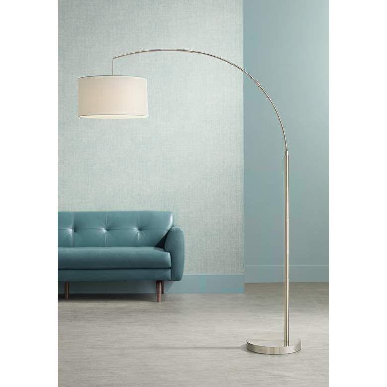 Cora Brushed Nickel Arc Floor Lamp 35f53 Lamps Plus In 2020 Modern Arc Floor Lamp Floor Lamps Living Room Floor Lamps Living Room Modern