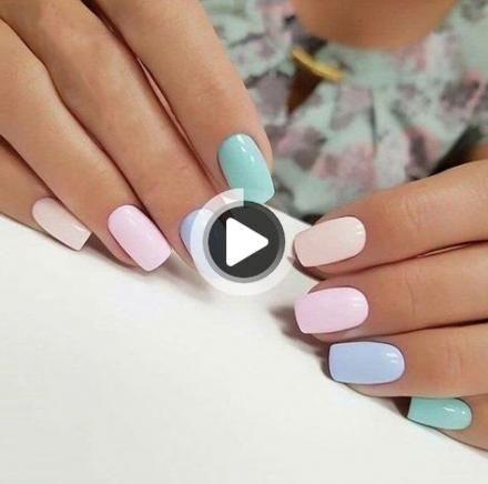 67アイデアの爪シンプルな上品な新しい年のデザイン in 2020  solid color nails