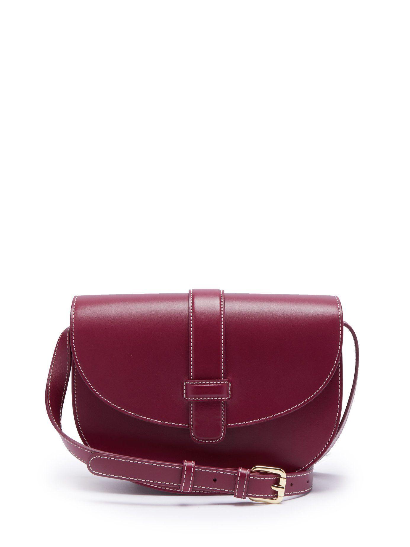 8cb13fedec Eloise leather saddle bag