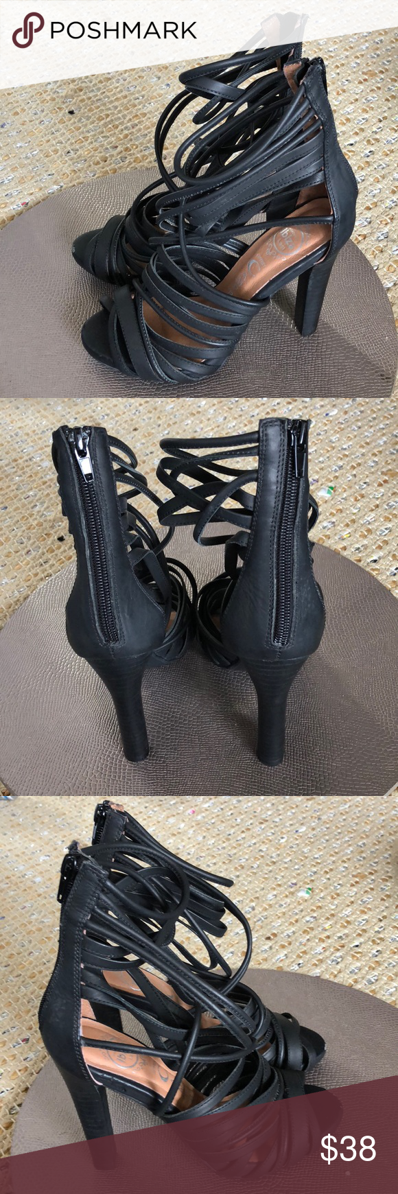 Jeffrey Campbell Cages Heels 7 New Jeffrey Campbell Cages Heels Size 7 Price reflects scuff on front of both heels  🌺 Jeffrey Campbell Shoes Sandals