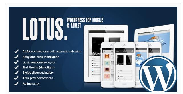 28 Awesome WordPress Mobile Themes & Templates | Awesome WordPress ...