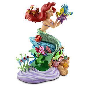 Disney Ariel Figure -- 13'' H | Disney StoreAriel Figure -- 13'' H - Under the sea is a fun place to be as this Ariel Figure shows! The Little Mermaid tends to something in Flounder's eye while surrounded by Sebastian and lots of other friends on this colorful figurine created by Disney artist Costa Alavezos.