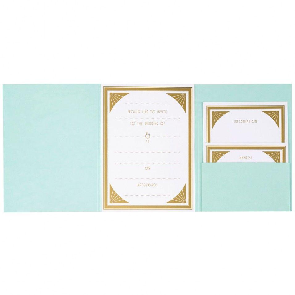 Gatsby Tiffany blue wedding invitations - Paperchase   Wedding ...