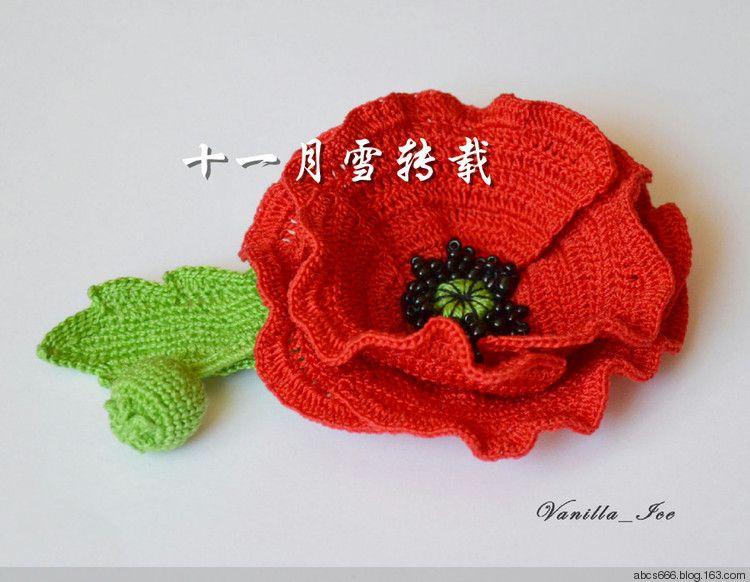 crochet poppy flower