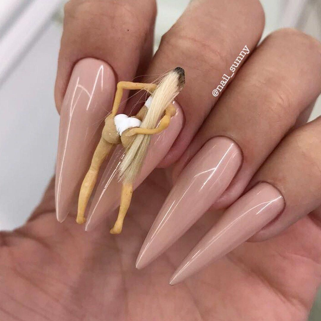 Lets Talk Bitten Nails So I Get Approached A Lot By People Who Ask Can You Do Anything With These Natural Acrylic Nails Short Gel Nails Rounded Acrylic Nails